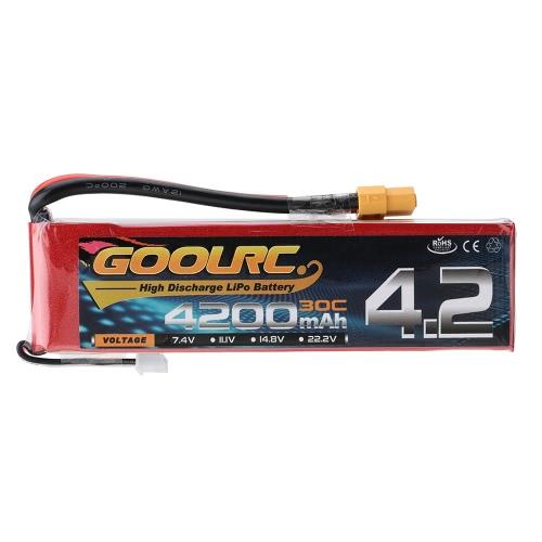 GoolRC 2S 7.4V 4200mAh 30C Li-Po Batería con XT60 Plug para el coche de RC Camión Barco