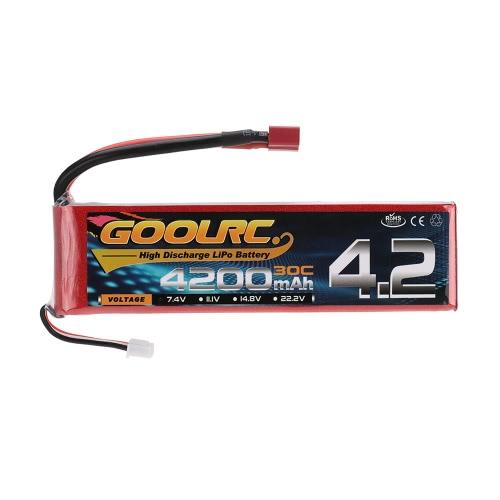 Batterie GoolRC 2S 7.4V 4200mAh 30C Li-Po avec prise T pour camion bateau RC