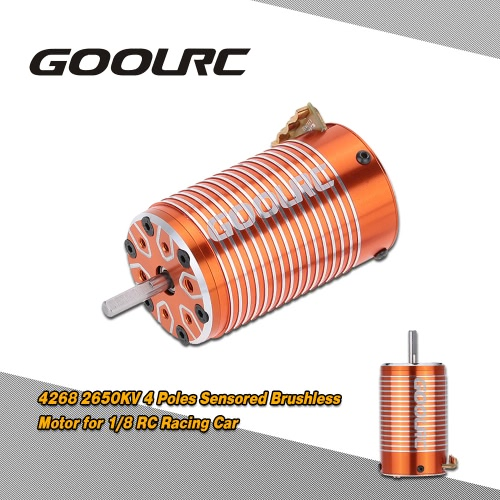GoolRC 4268 2650KV 4 Poles Sensored Brushless Motor for 1/8 RC Racing Car Truck Truggy On Road