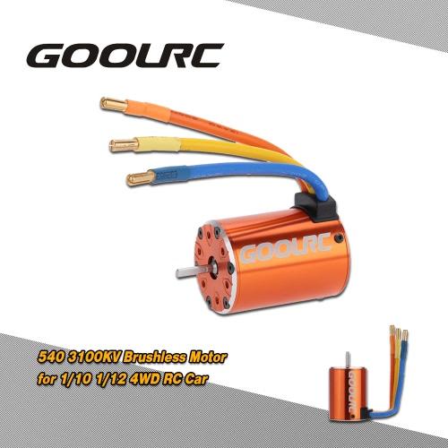 GoolRC 540 3100KV 4 Poles Sensorless Brushless Motor for 1/10 1/12 4WD RC Car