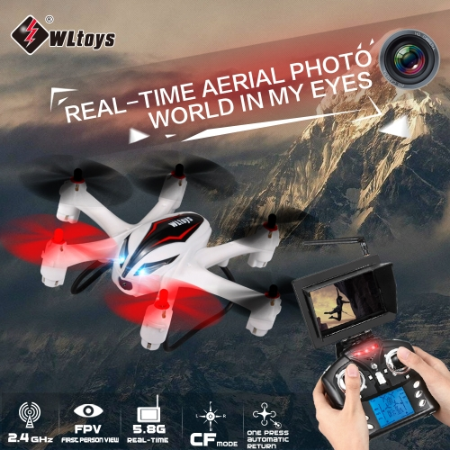 WLtoys Q282-G 4CH 6-Axis Gyro 5.8G FPV CF Mode RTF RC Quadcopter Hexacopter With 2MP HD Camera