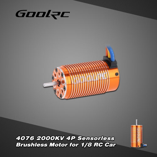 GoolRC 4076 2000KV 4P Sensorless Brushless Motor for 1/8 RC Monster Truck