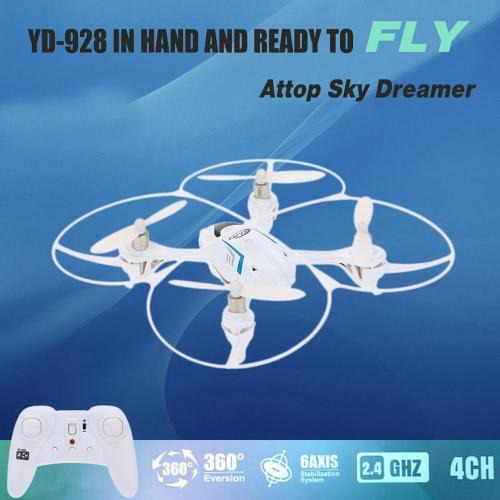 オリジナル  Attopスカイドリーマー  YD-928 2.4GHz   360度外転   4CH   6軸ジャイロ搭載   RTF RCクアッドコプターUFOドローン
