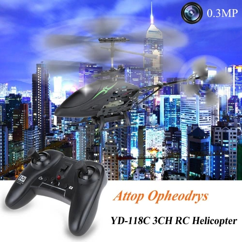 Original Attop Opheodrys YD-118C 3CH Infrared Controlled RC Helicopter with 0.3MP Camera