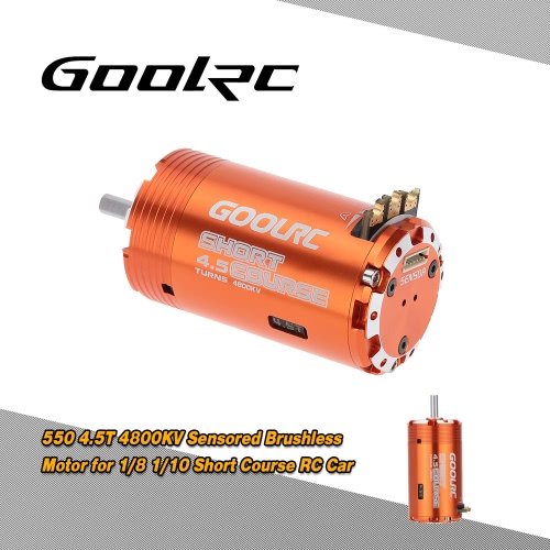 GoolRC 550 4.5T Sensored Brushless Motor for 1/8 1/10 Short Course RC Car