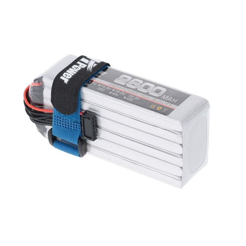JHpower 22.2V 2600mAh 35C 6S LiPo Battery With T Plug for RC Car Airplane Helicopter