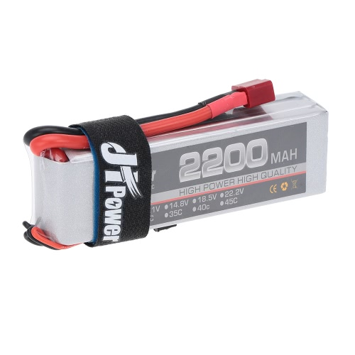 JHpower 11.1V 2200mAh 25C 3S LiPo Batterie Avec T Plug pour RC Car Airplane Helicopter