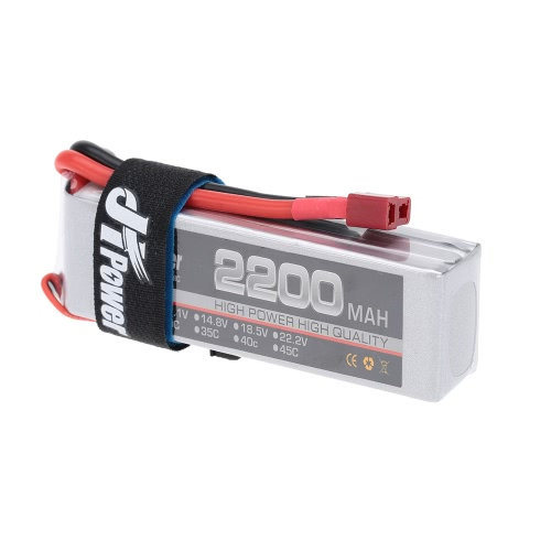 JHpower 11.1V 2200mAh 25C 3S LiPo Battery With T Plug for RC Car Airplane Helicopter