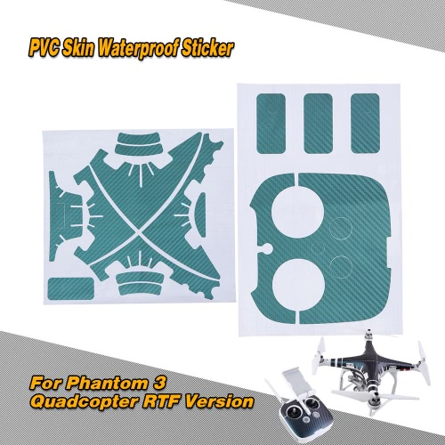 PVC Skin Waterproof Sticker for Phantom 3 Quadcopter Shell and Remote Controller