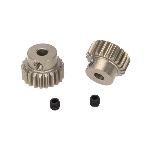 GoolRC 2Pcs 48DP 3.175mm 21T Pinion Motor Gear for 1/10 RC Car Brushed Brushless Motor
