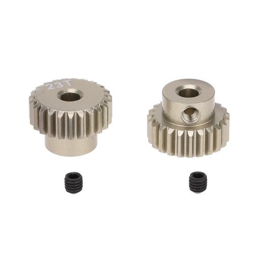 GoolRC 2Pcs 48DP 23T Ritzel Motor Getriebe für 1/10 RC Auto gebürstet Brushless Motor