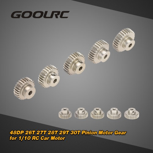 GoolRC 48DP 26T 27T 28T 29T 30T Pinion Motor Gear Combo Set for 1/10 RC Car Brushed Brushless Motor