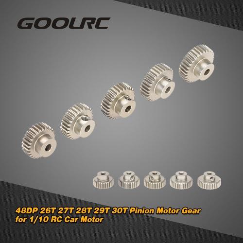 GoolRC  48DP  26T 27T 28T 29T 30T ピニオンギアモーターコンボセット   1/10 RCカーブラシブラシレスモーター用