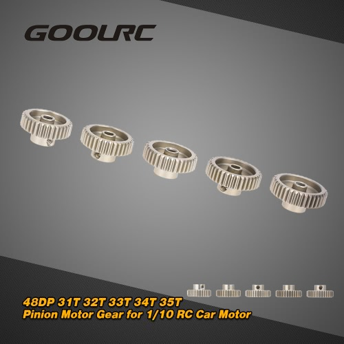 GoolRC 48DP 31T 32T 33T 34T 35T Pinion Motor Gear Combo Set for 1/10 RC Car Brushed Brushless Motor