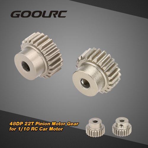 GoolRC 2Pcs 48DP 22T Pinion Motor Gear for 1/10 RC Car Brushed Brushless Motor