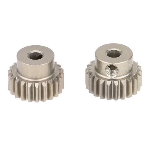 GoolRC 2Pcs 48DP 22T engranaje del motor del piñón para 1/10 RC coche cepillado sin escobillas Motor