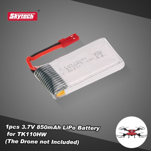 Skytech TK110-29 3.7V 850mAh LiPo Battery with JST Plug for TK110HW FPV RC Quadcopter