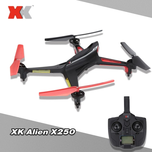 XK Alien X250 2.4G 4CH 6 Axis RC Quadcopter One Key to Roll Headless Mode One Key to Return