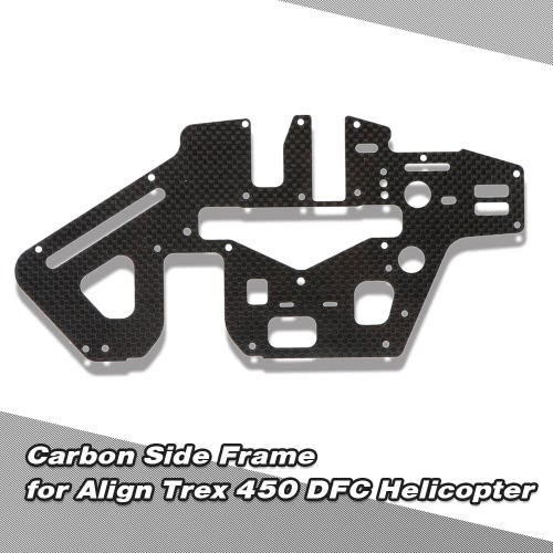 Carbon Side Frame for Align Trex 450 DFC 6CH 3D RC Helicopter