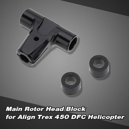 Blocco di testa del rotore principale per allineare Trex 450 DFC 6CH elicottero RC 3D