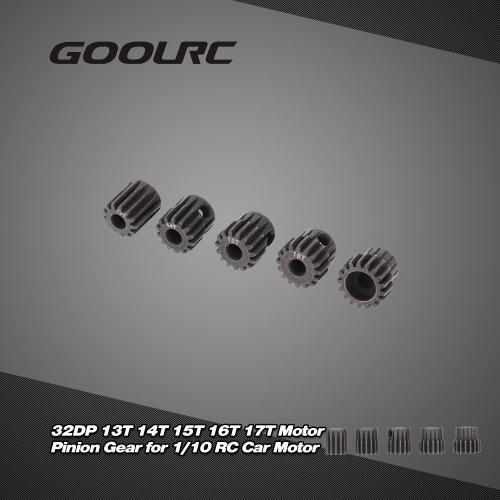 GoolRC 5Pcs 32DP 5mm 13T 14T 15T 16T 17T Motor Pinion Gear Combo Set for 1/10 RC Car Brushed Brushless Motor