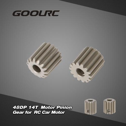 GoolRC  2個  48DP  3.175mm 14Tモーターピニオンギア   RCカーブラシブラシレスモーター用