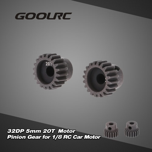 GoolRC 2Pcs 32DP 5mm 20T Motor pinhão para carro RC 1/8 escovado Motor Brushless