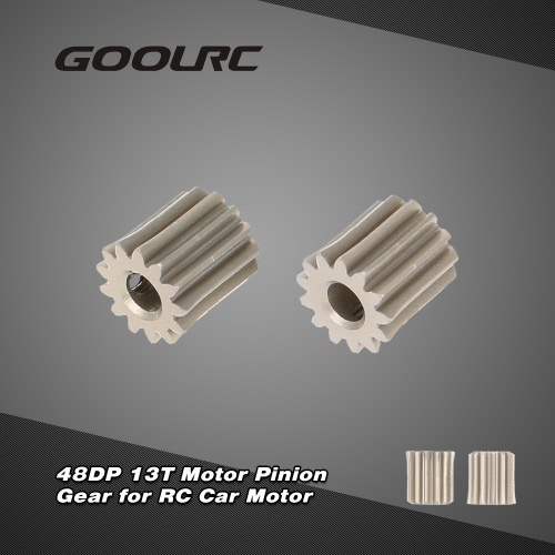 GoolRC 2Pcs 48DP 3.175mm 13T Motor Pinion Gear for RC Car Brushed Brushless Motor