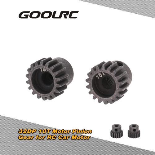 GoolRC 2Pcs 48DP 3,175 mm 13T Motor piñón para coche RC cepillado Motor sin escobillas