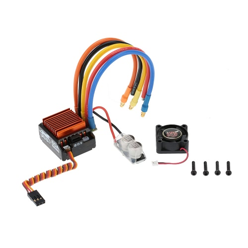SkyRC 4000KV 8.5T 2P Brushless Sensored/Sensorless Motor & CS60 60A Brushless Sensored/Sensorless ESC & LED Program Card Combo Set for 1/10 1/12 Buggy Touring Car