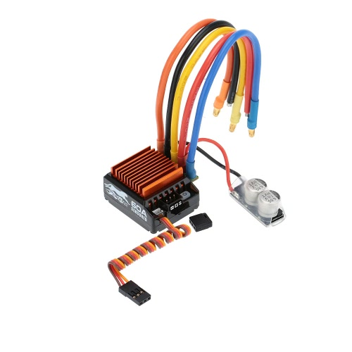 SkyRC 13.5T 2590KV 2P Brushless Sensored/Sensorless Motor & CS60 60A Brushless Sensored/Sensorless ESC & LED Program Card Combo Set for 1/10 1/12 Buggy Touring Car