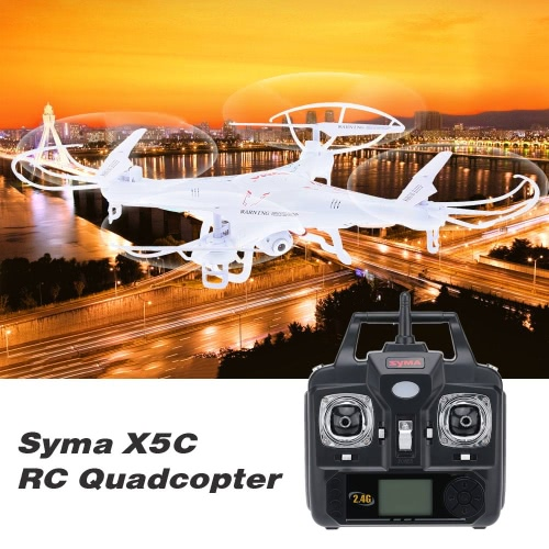 SYMA X5C 2MP HD FPV Camera 2.4GHz 4CH 6Axis RC Helicopter Quadcopter Gyro 4GB TF Card