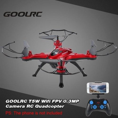Cámara GoolRC T5W Wifi FPV 0.3MP de segunda mano RC Quadcopter con una tecla de retorno Modo CF 360 ° Función Eversion