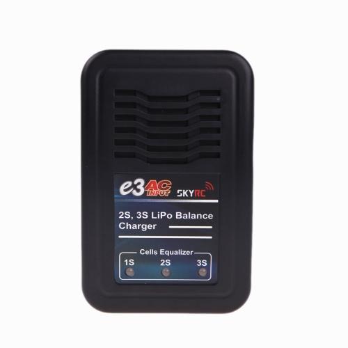SKYRC SK-100081 E3 AC Entrée 2S 3S Chargeur de batterie Lipo pour RC Batterys US Plug (Chargeur de batterie SKYRC SK-100081 E3,2S 3S, chargeur de batterie Lipo)