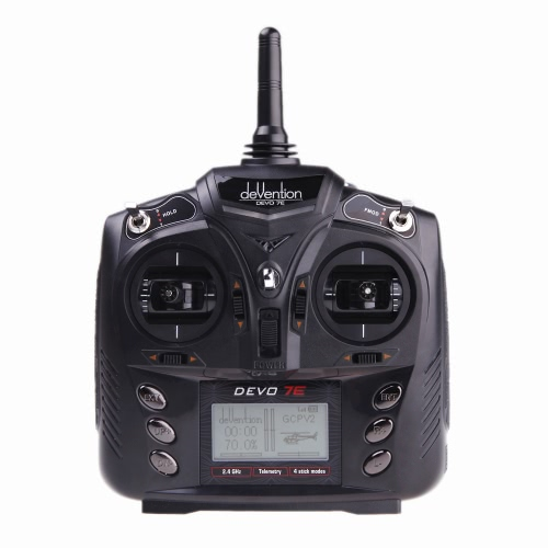 Walkera DEVO 7E 2.4G 7CH DSSS Transmetteur de Radiocommande  2.4G 7CH DSSS pour  Modèle 2 de  RC Hélicoptère et l'Avion  ( Transmetteur Walkera,  Transmetteur DEVO 7E 2.4G 7CH )
