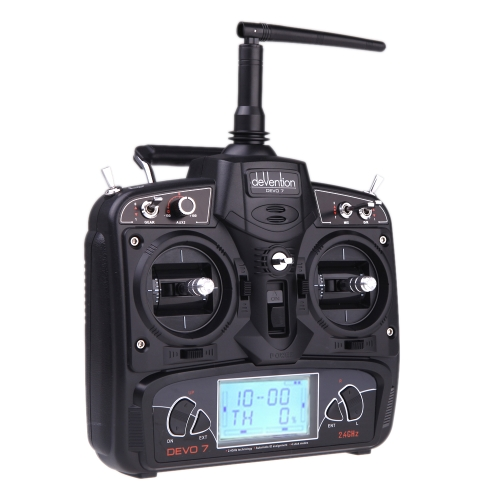 Trasmettitore Sistema Radio schermo LCD Walkera DEVO 7 2.4G 7CH per RC Airplane Model 2 (Walkera trasmettitore, DEVO 7 2.4G 7CH trasmettitore)