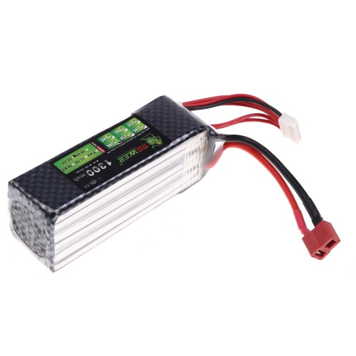 Lion Power Lipo Batterie 22.2V 1300Mah 30C MAX 45C T Plug pour Align TREX 450 450L RC Helicopter Car Aéronef Batterie (Aligner TREX 450 450L Battery, 22.2V 1300Mah, Lion Power 22.2V 1300Mah)