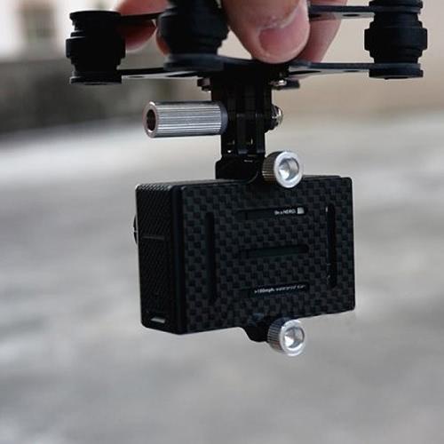 Fibra in fibra di carbonio Ammortizzatore Gimbal PTZ per DJI Phantom Quadcopter Aereo Gopro Hero 3 FPV (DJI F450 Gimbal, Gopro Hero 3 Ammortizzatore Gimbal, Quadcopter Gimbal PTZ)