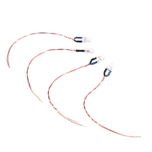 4Pcs Original Hubsan Part H107-A32 LED Lights Set Blue for Hubsan H107C H107D H107L Mini Qudcopter Part (Hubsan LED Lights Setr,Hubsan H107 LED Lights Set)