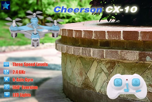 Cheerson CX-10 Mini 2.4G 4CH 6 Axis LED RC Quadcopter