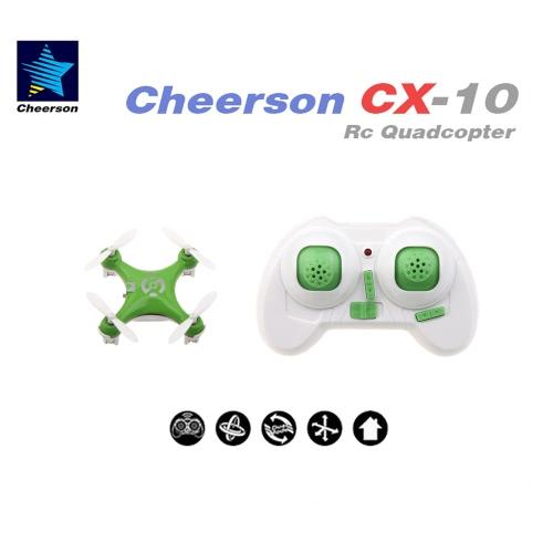 Cheerson CX-10 Mini 2.4G 4CH 6軸LED RCクアドコプター
