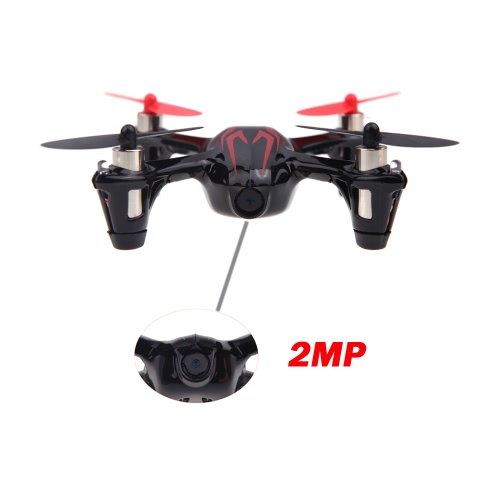 100 % Original Hubsan X 4 H107C 2.4 G 4CH RTF RC Hélicoptère Quadcopter W / HD Appareil Photo 2MP Noir & Rouge