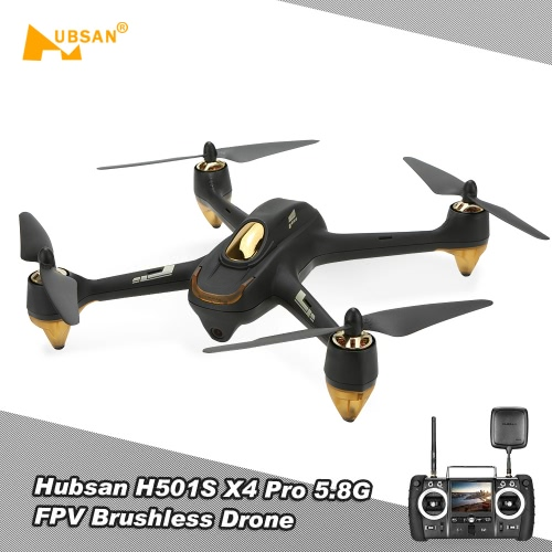 Hubsan H501S Pro X4 5.8G FPV Brushless Drone w/ 1080P Camera 10 Channel Remote Control GPS Quadcopter