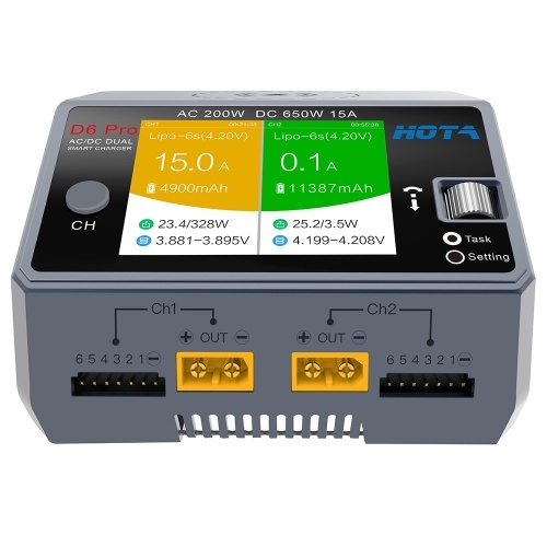 HOTA D6 Pro Smart Charger AC200W DC650W 15A
