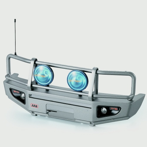 Alloy Front Bumper w / LED Light Lamp para RC4WD TF2 LWB Axial SCX10 & SCX10_Ⅱ 1/10 RC Crawler Truck and SUV