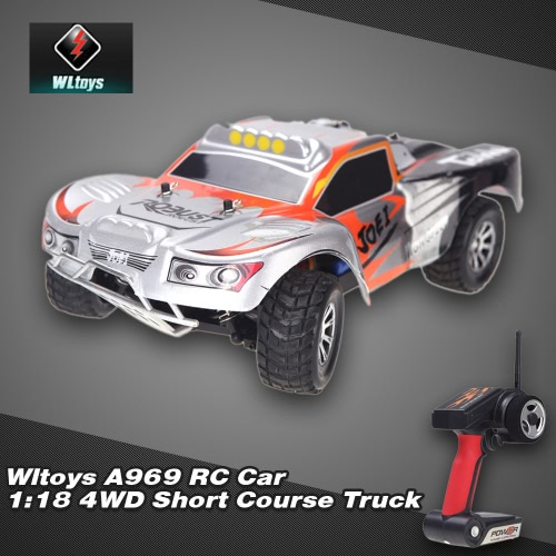 Wltoys A969 RC Car 1:18 Skala 2.4GHz RTR 4WD Short Course Truck