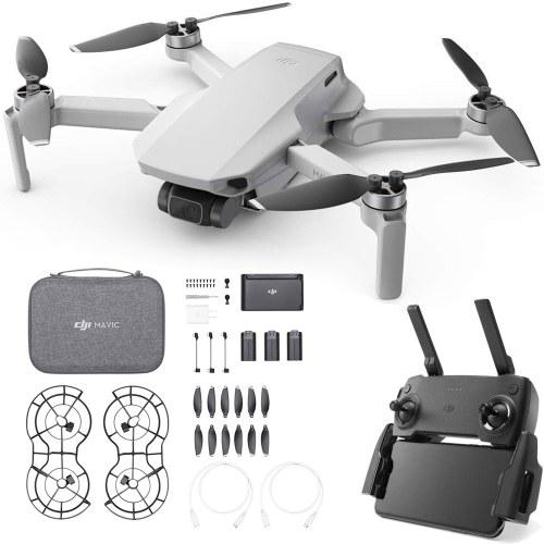 DJI Mavic Mini Fly More Combo 4KM FPV Drone with 2.7K Camera 3-Axis Gimbal 30mins Flight Time 249g Ultralight GPS RC Quadcopter Image