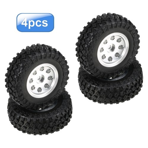 4PCS AUSTAR 48*18mm RC Car Tires with Aluminum Alloy Wheel Rim for 1/24 RC Buggy Off-road Car Compatible with Axial SCX24 Axial 90081 AXI00001 AXI00002