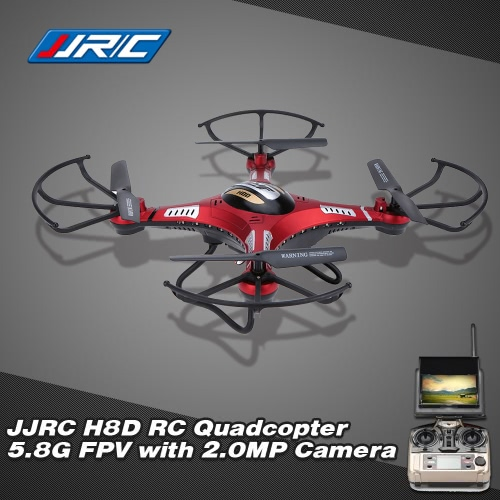 JJR/C H8D 5.8G FPV RTF RC Quadcopter Headless Mode/One Key Return Drone with 2.0MP Camera FPV Monitor LCD