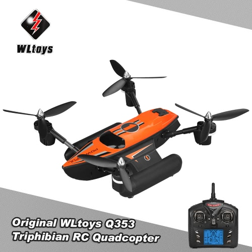 WLtoys Q353 Triphibian 2.4G 6-Axis Gyro Air-Ground-Water RC Quadcopter Headless Mode RTF Drone